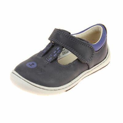 Clarks Amelio Glo Fst Girls Anthracite Shoe size uk kids hook loop leather