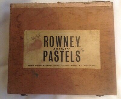 Vintage Wooden Box Rowney Artists' Pastels