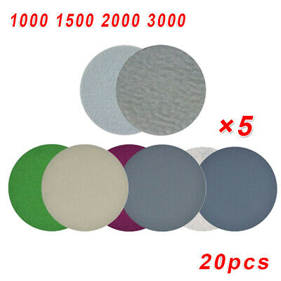 Sandpaper Sanding Disc Sander 20pcs Grinding Artificial stone Furniture