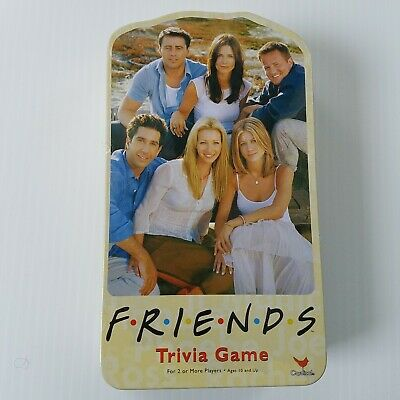 Friends TV Show 2003 Trivia Game with Picture Cards In Collectible Tin NOS