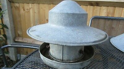 """Vintage Eltex Bird Poultry Feeder - 10"""" tall with dome top"""