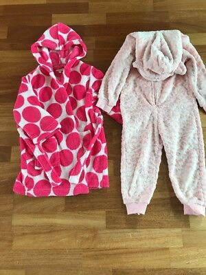 Girls Dressing Gown & One Piece 2-3 Years