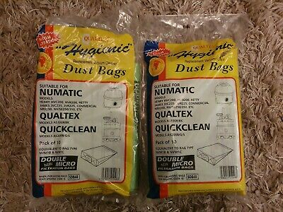 Qualtex Hygienic Replacement Vacuum Dust Bags for Henry hoovers etc. 17 bags
