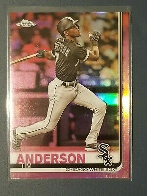 2019 Topps Chrome Pink Tim Anderson Refractor # 186 White Sox