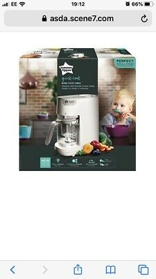 Tommee Tippee White Quick Cook Baby Food Maker Brand New Unopened Box