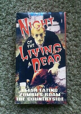 Night Of The Living Dead Alpha Video Vhs Rare Tape Horror Zombie George Romero
