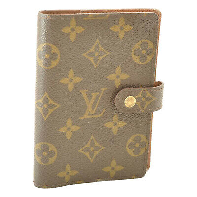 LOUIS VUITTON Monogram Agenda PM Day Planner Cover R20005 LV Auth ti028