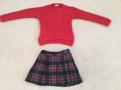 Next Girls Christmas Outfit Age 7 Years