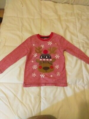 Boys Or Girls Christmas Jumper / Long Sleeve T.shirt. Age 4-5 Great Condition