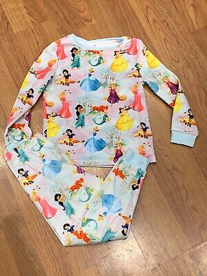 GIRLS DISNEY PRINCESS PICTURE PYJAMAS SET AGE 4/5YRS GOOD CONDITION (See Desc)