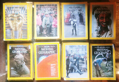 1977 - 1984 National Geographic Lot of 74 Magazines 1977 complete year