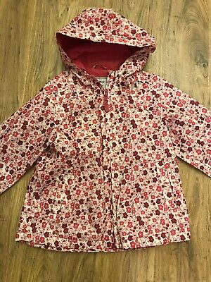 Girls Next Pink Floral Coat Age 4-5 Years