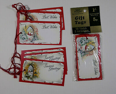 16 vintage retro 1960's 1970's Christmas gift tags BNIP Regal traditional labels