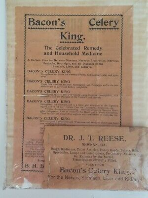 Vintage 1900s Quack Medicine Bacons Celery King Remedy Flyer and Product