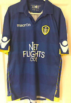 Leeds United Macron Away Shirt - 2010-11 - Adults Size Small - Worn