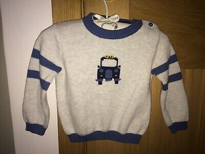 Baby Boys The Little White Company Taxi Jumper Age 6-9 Months