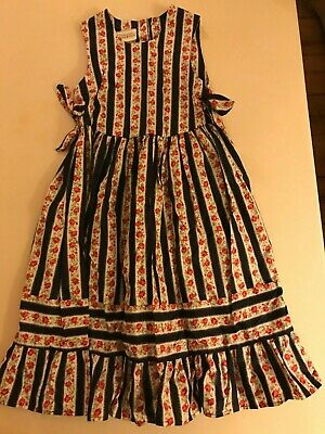 Vintage Laura Ashley Mother and Child Girls cotton pinafore dress, 4 years