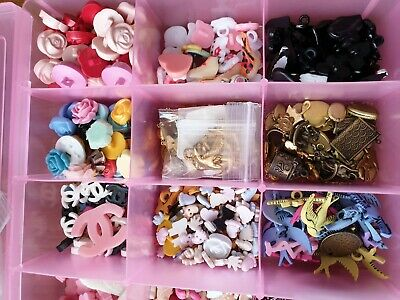 Huge Job Lot Jewellery Charms Pendants Novelty Buttons Christmas Crafts