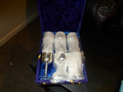Set Of 6 Mini Goblets With Velvet Case