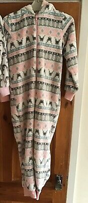 Girls Matalan Onesie (Not Gerber) Fair isle Pattern Age 7 Great Condition