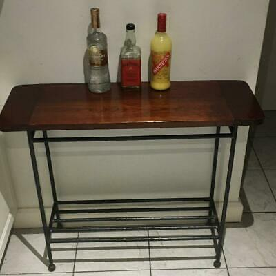 Tall Entry Hall Table Wrought Iron Blacksmith Made Shoe Rack Hall Console Table