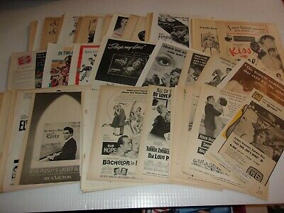 180 Vintage movie ads  clippings LAST CHANCE SALE WILL NOT BE RELISTED