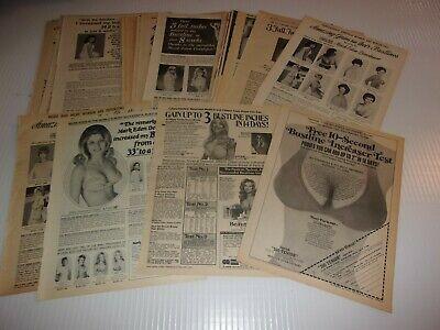 65 Mark Eden & various other bust developer ads  clippings LAST CHANCE SALE
