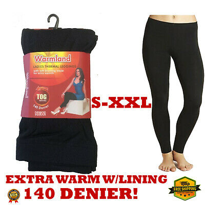 Womens Ladies Winter Warm Thick Soft Lining Thermal Stretchy Cosy Leggings 0.5 T