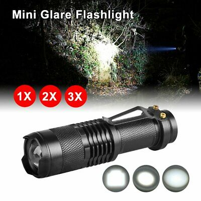 Mini CREE Q5 LED Flashlight Torch Adjustable Focus Zoom Light Lamp 1200LM  WH