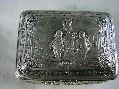 Antique German Silver Box Wertheim City Mark Baden Wurtemburg Pre-1886