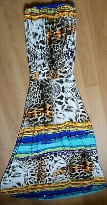 Women's Size S Small Long Dress Strapless Sleeveless Maxi Silky