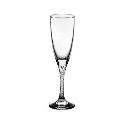 24x Champagne Flute Glass 150mL Pasabahce Twist Bar Cocktail Mixed Drink
