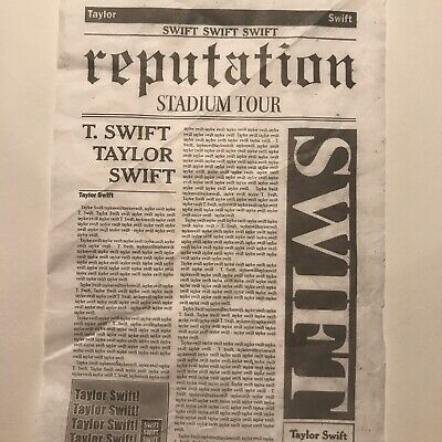 Taylor Swift Reputation Stadium Tour Show Used Confetti 10 Pieces
