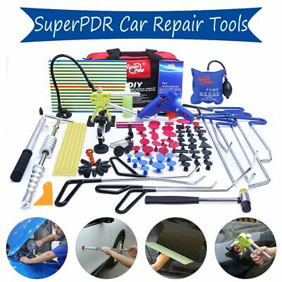 110PCS Super PDR Rods Tools Paintless Dent Repair Puller Lifter Hail Rmeoval Kit