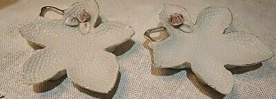 Faso VINTAGE Japan Flower Stippled Dishes Plates PAIR OF TWO- Adorable set!