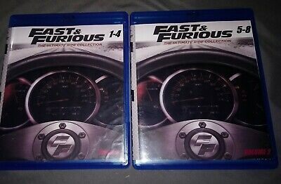 fast and furious 8 movie collection Blu-Ray bluray 1-8 F8 fast 5 furious 7