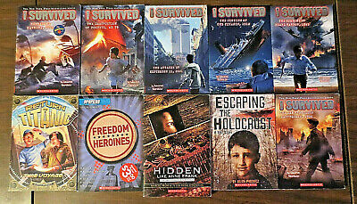 Lot 10 History Bios I SURVIVED SERIES By Lauren Tarshis + The Holocaust & More