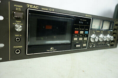 Teac C-3 Three Head Cassette Deck New Belts, Cleaned and Demagnatized