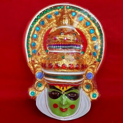 Kerala Kathakali Head Mask Handicraft Wall Hanging Fiber Home Decor Showpiece