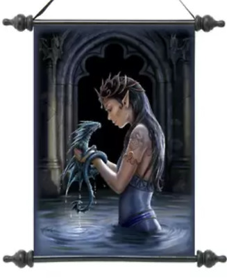 ANNE STOKES SCROLL  Water Dragon