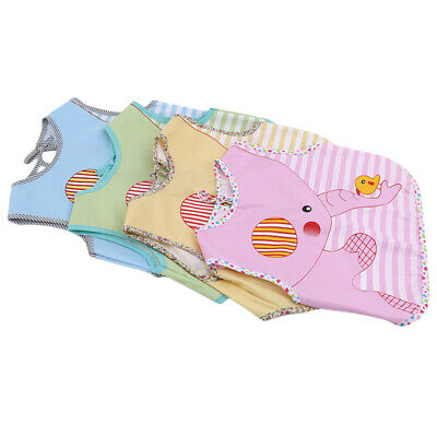 Child's Waterproof sleeveless Bibs Baby Toddler Bibs Feeding Smock Bibs Aprons B