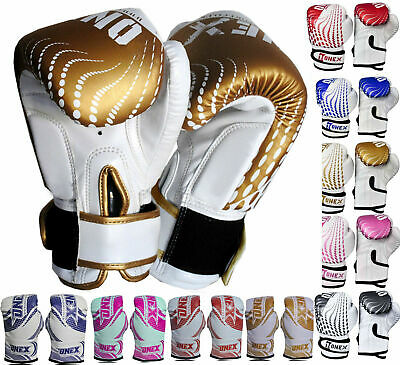 Sports Rex leather Boxing Punching Gloves 2oz,4oz,6oz Junior Martial Arts Mitts