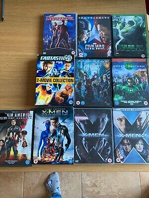 Superhero Bundle 11 Films, Xmen, Captain America, Fantastic 4, Hulk, Marvel