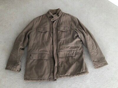 Next mens heavy weight winter coat XXL light brown - only worn a couple of times
