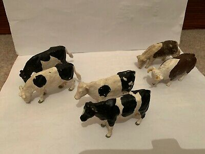 Job Lot Of 6 BRITAINS LTD ANIMALS Cattle Cows From 1980s