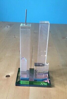 Twin Towers Glas nyc art selten Andenken New York Türme