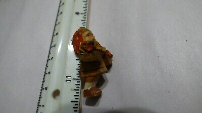Vtg Miniature Hand Carved Wooden OLD COUNTRY German Figure Wood Folk Art