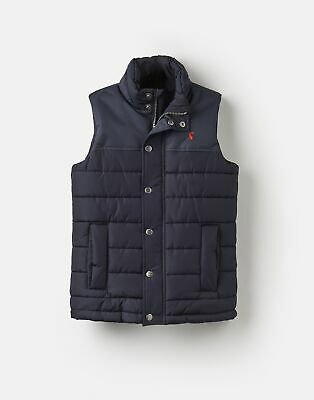 Joules Boys Matchday Padded Gilet 3 12 Yr in MARINE NAVY