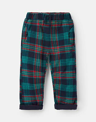 Joules Baby Joe Brushed Woven Trousers - NAVY MULTI CHECK Size 0m-3m