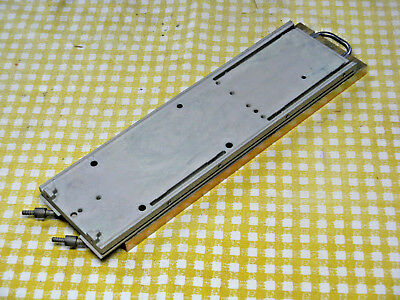 """Aluminum Water-Cooled Cold Plate, 11"""" x 3-1/4"""" for HP/Agilent and Other Lasers"""